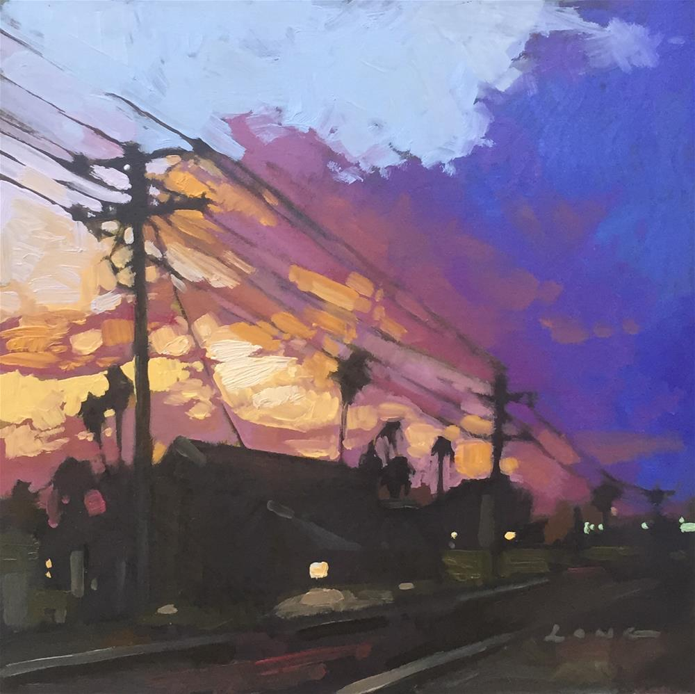 """Oceanside, CA"" original fine art by Chris Long"