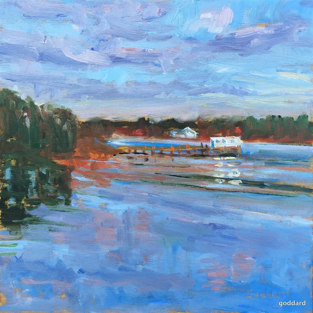 """Clouds Dancing on the Water"" original fine art by Shari Goddard Shambaugh"