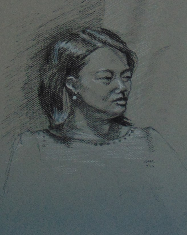 """Monday Portrait"" original fine art by Catherine Kauffman"