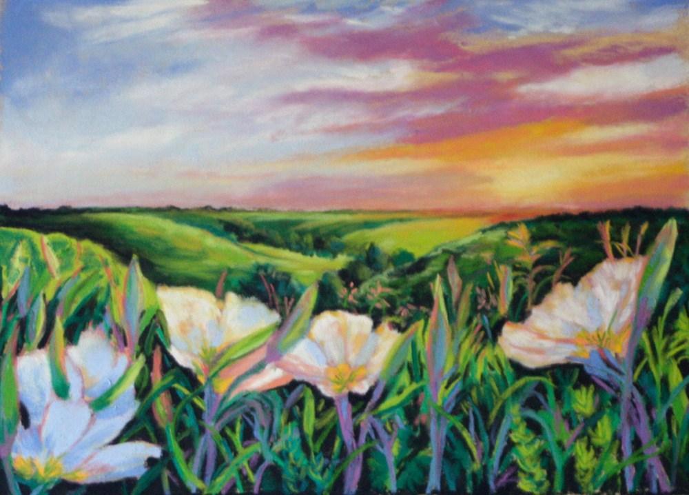 """Primrose  Hill"" original fine art by Jill Bates"