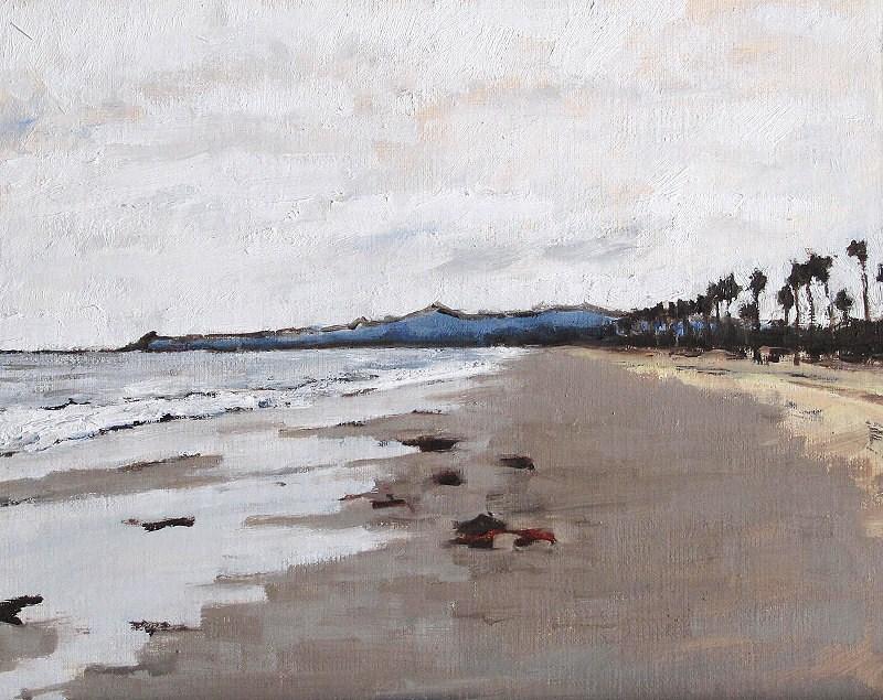 """Santa Barbara Beach Morning"" original fine art by Kevin Inman"