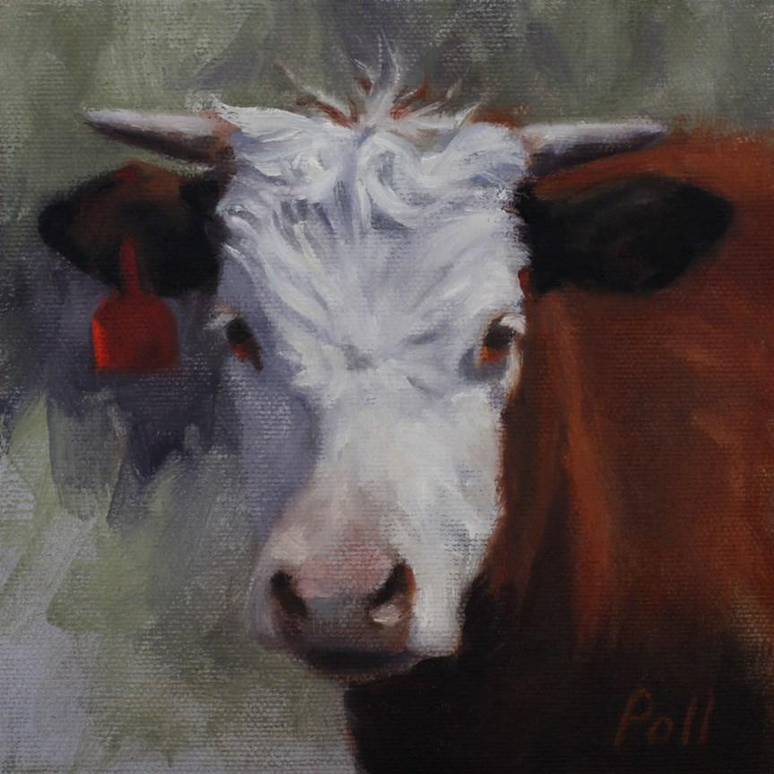 """""""Red Tag (Framed)"""" original fine art by Pamela Poll"""
