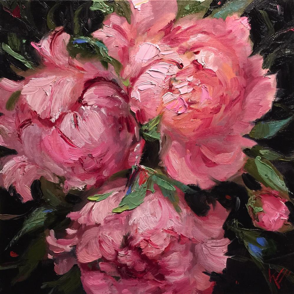 """Playful Peonies"" original fine art by Krista Eaton"
