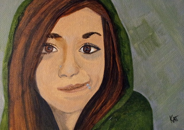 """Dani"" original fine art by Kathleen Carrier"