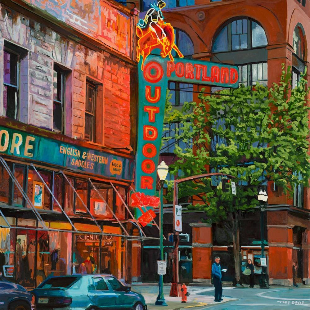 """The Outdoor Store"" original fine art by Toby Davis"