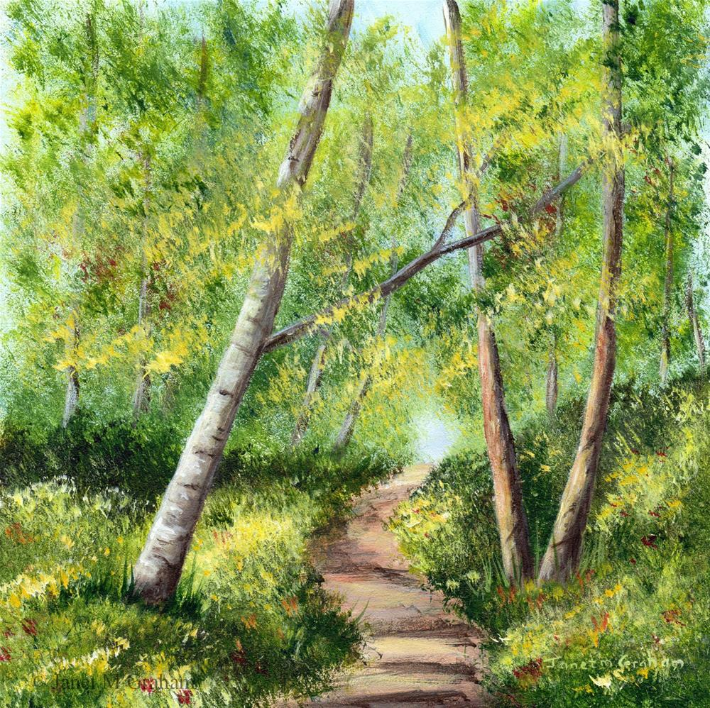 """Spring Forest"" original fine art by Janet Graham"