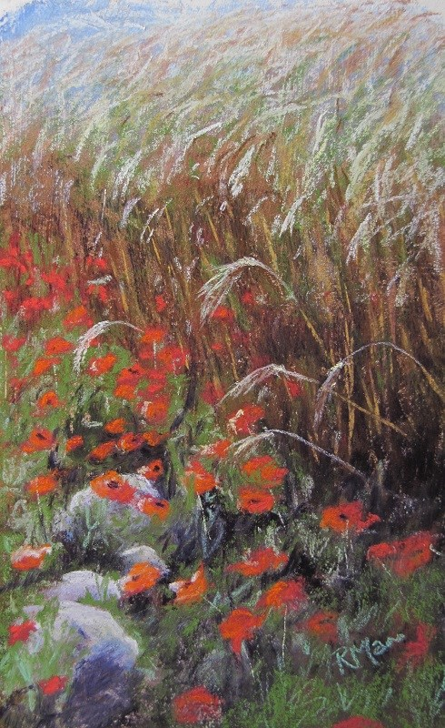 """Homage to the Poppy"" original fine art by Ruth Mann"