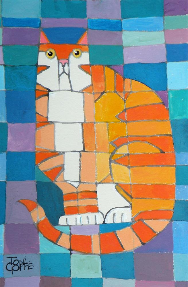 """Paul Klee's Kat"" original fine art by Toni Goffe"