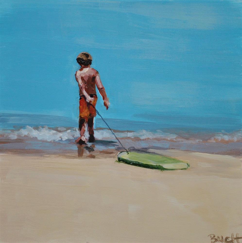 """Me and My Boogie Board"" original fine art by Shari Buelt"