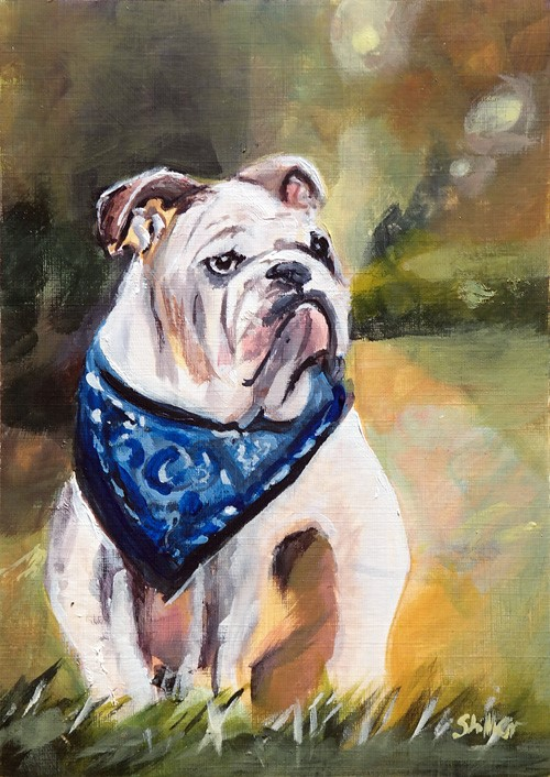 """2659 Gentle-Dog"" original fine art by Dietmar Stiller"