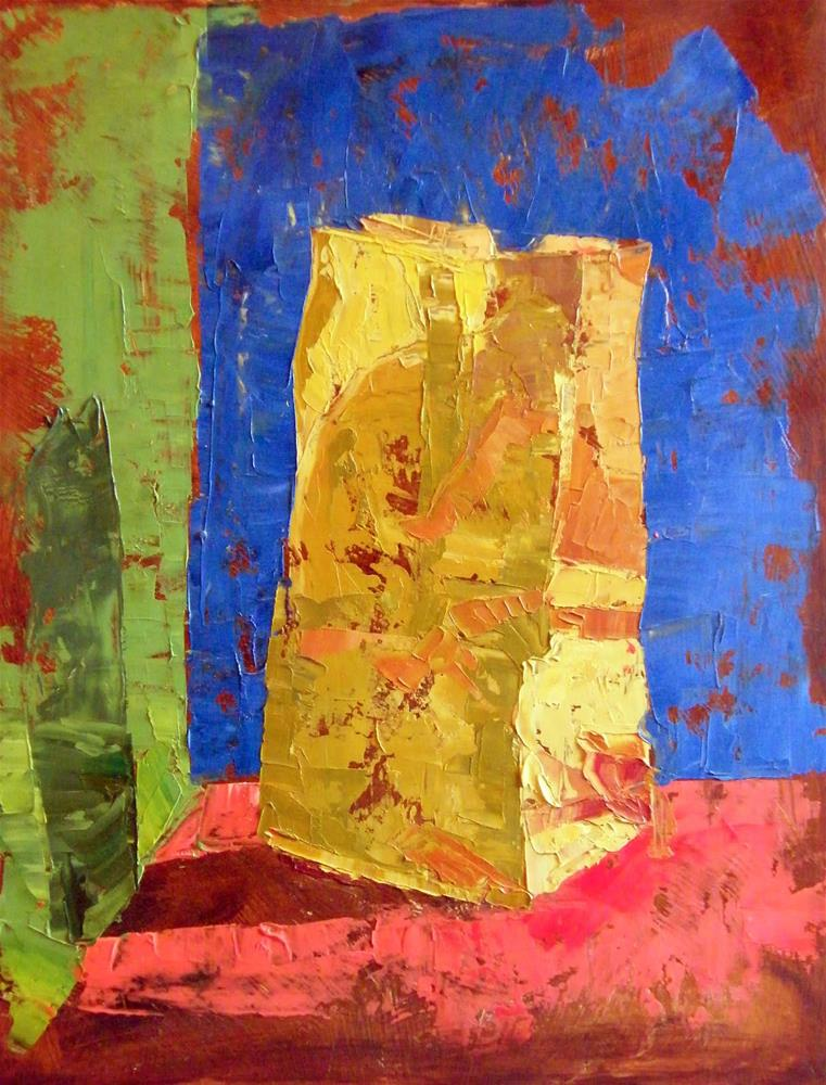 """Paper sack"" original fine art by Donna Whatcott Parsons"