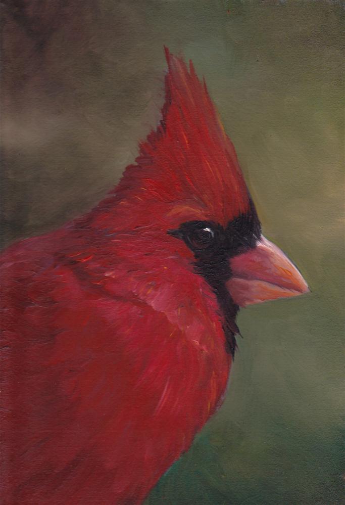 """Cardinal #3"" original fine art by Charlotte Yealey"