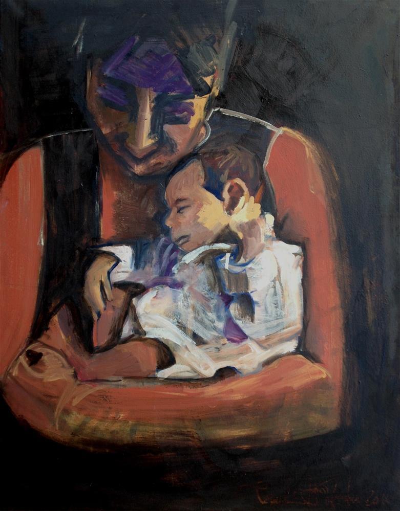 """""""Embrace II"""" original fine art by Pamela Hoffmeister"""