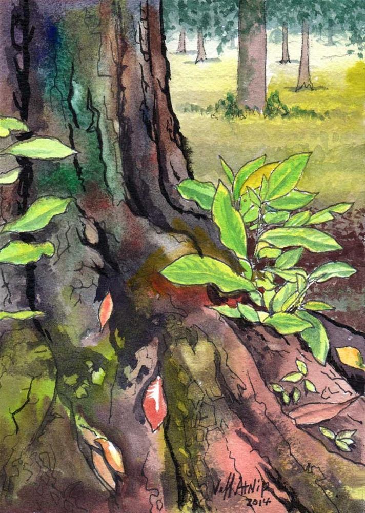 """""""New Growth"""" original fine art by Jeff Atnip"""