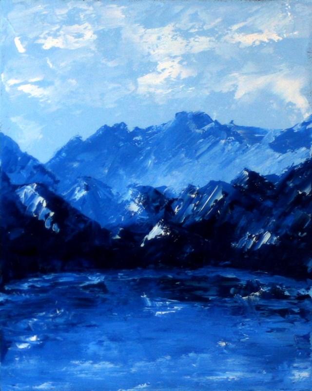 """""""Mark Webster - Mount Impasto Palette Knife Oil Painting"""" original fine art by Mark Webster"""