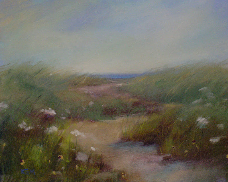 """""""A Simple Way to Spice up a Boring Reference Photo 'Nantucket Dunes"""" original fine art by Karen Margulis"""