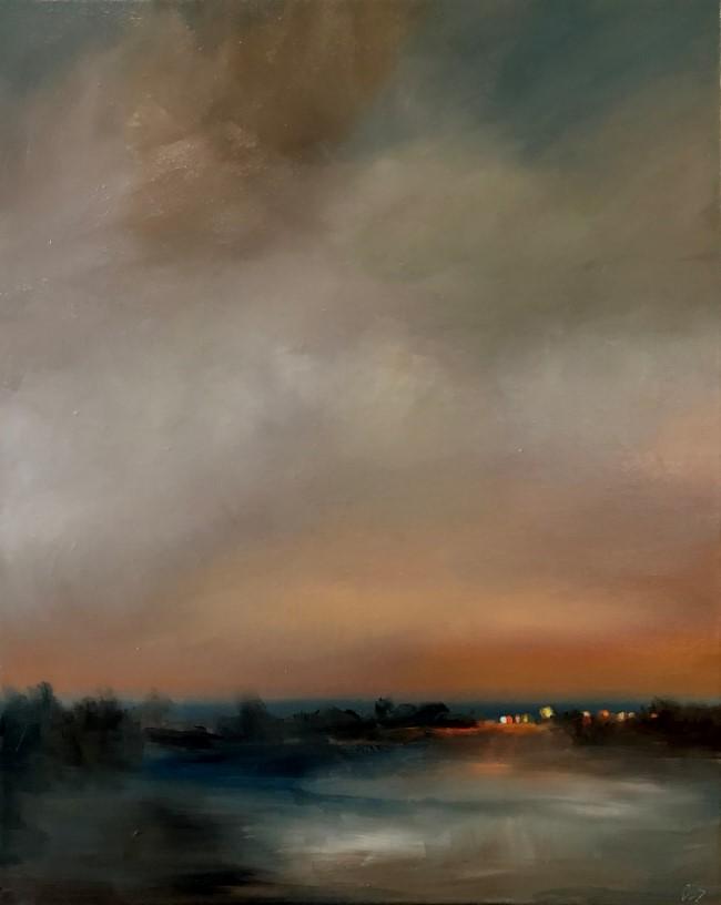 """""""Snow Tonight"""" original fine art by ~ces~ Christine E. S. Code"""