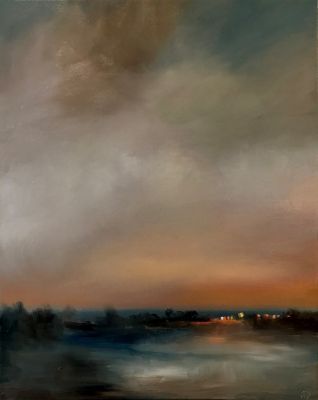 """Snow Tonight"" original fine art by Christine E. S. Code"