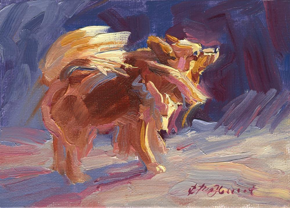 """""""Sun Bather"""" original fine art by B. Rex Stewart"""