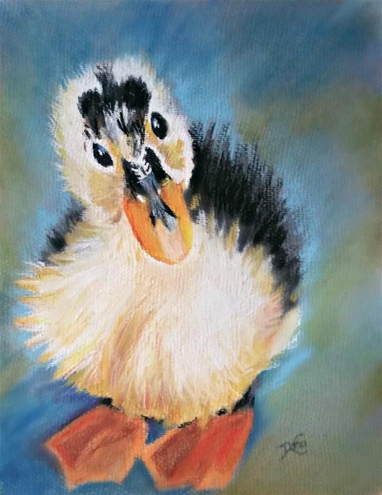 """""""Little Quack"""" original fine art by Dana C"""