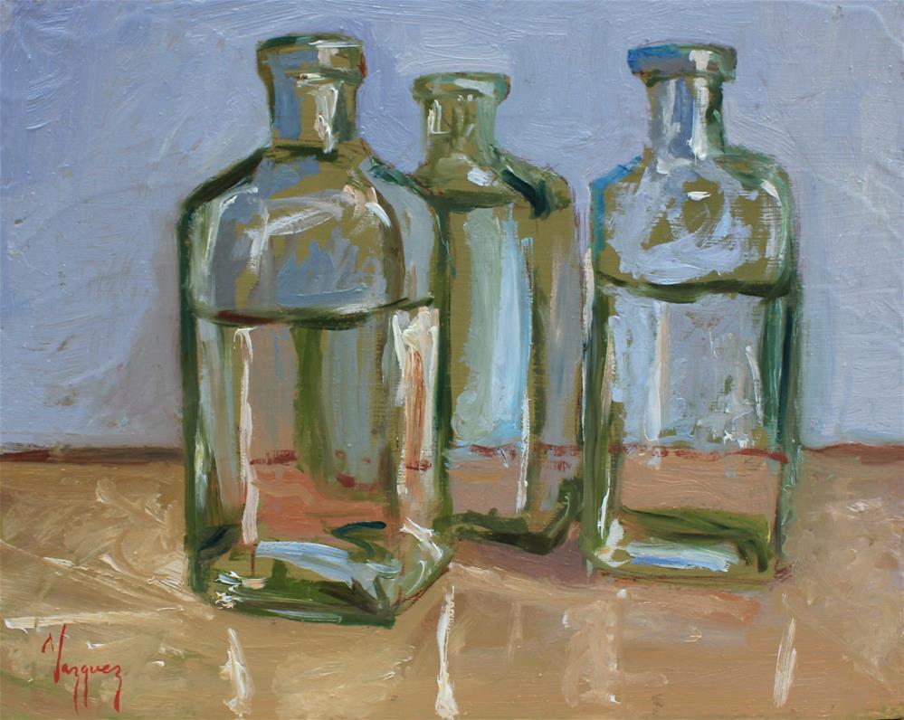 """""""Bottles"""" original fine art by Marco Vazquez"""