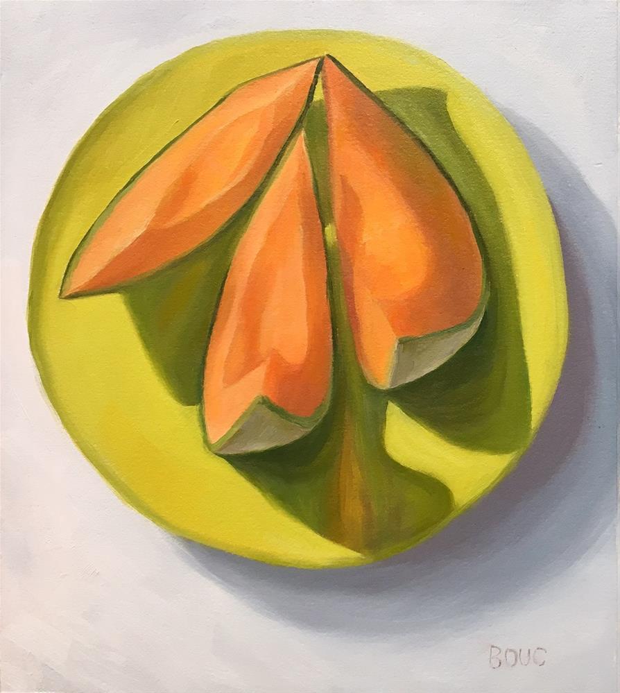 """Kissing Cantaloupe"" original fine art by Jana Bouc"