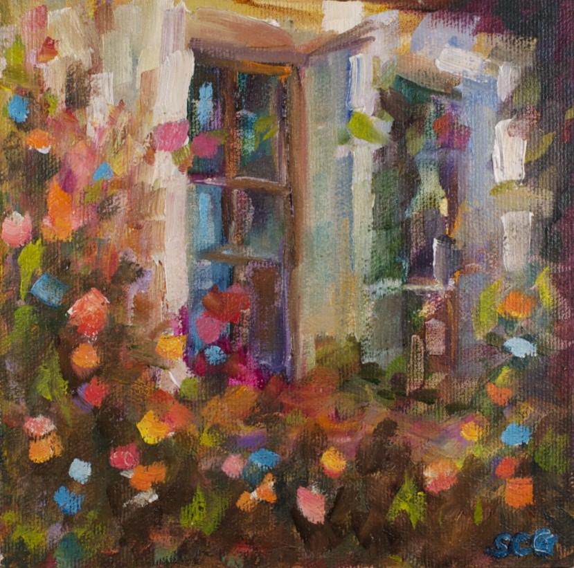 """St Paul de Vence"" original fine art by Sue Churchgrant"