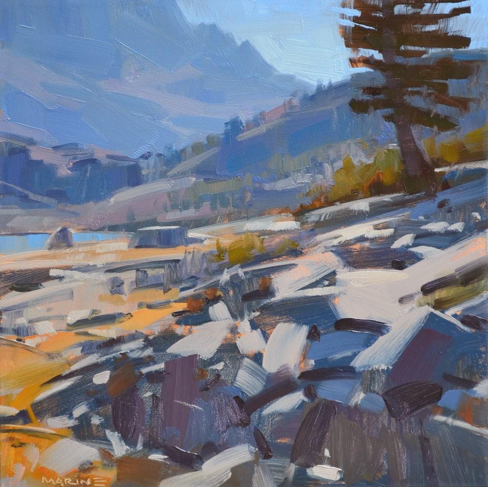 """Jumbled Rocks"" original fine art by Carol Marine"