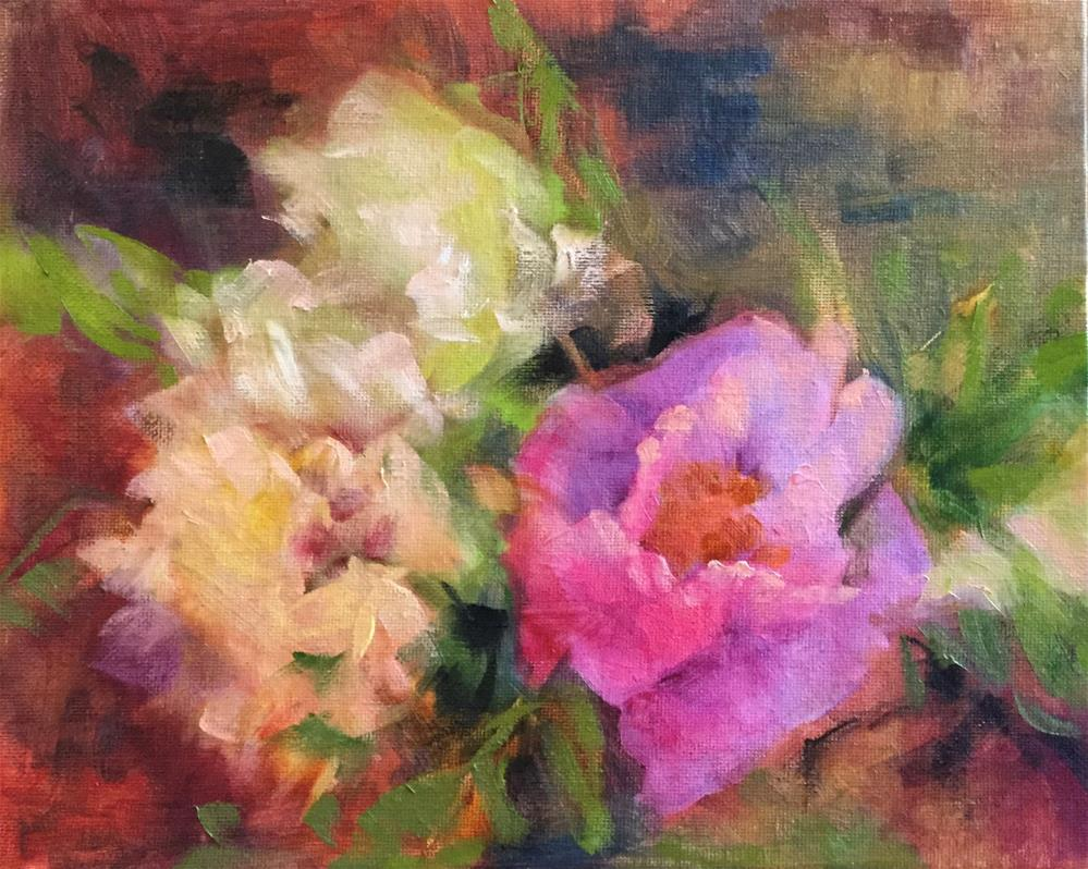 """""""Pink and White Peonies"""" original fine art by Charlotte Fitzgerald"""
