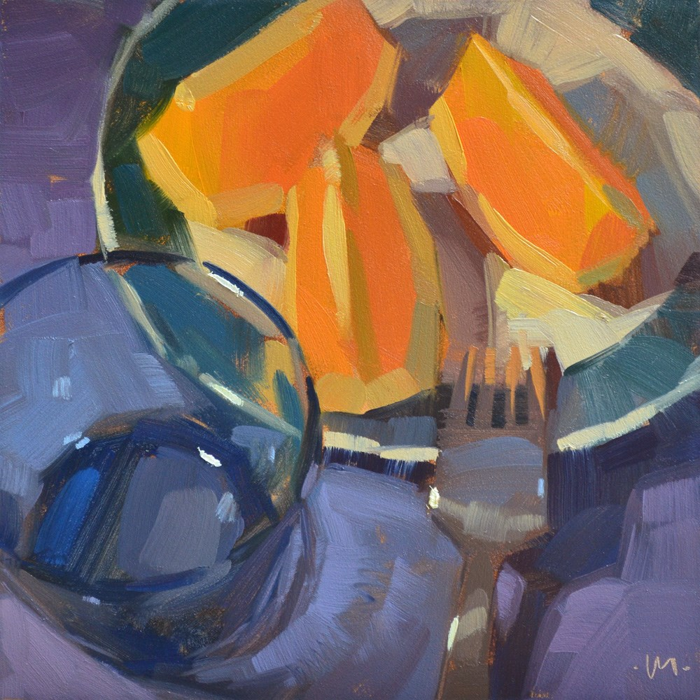 """Ends Chopped Off"" original fine art by Carol Marine"