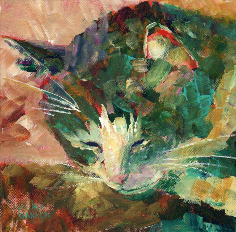 """""""Napping & Dreaming"""" original fine art by Melissa Gannon"""