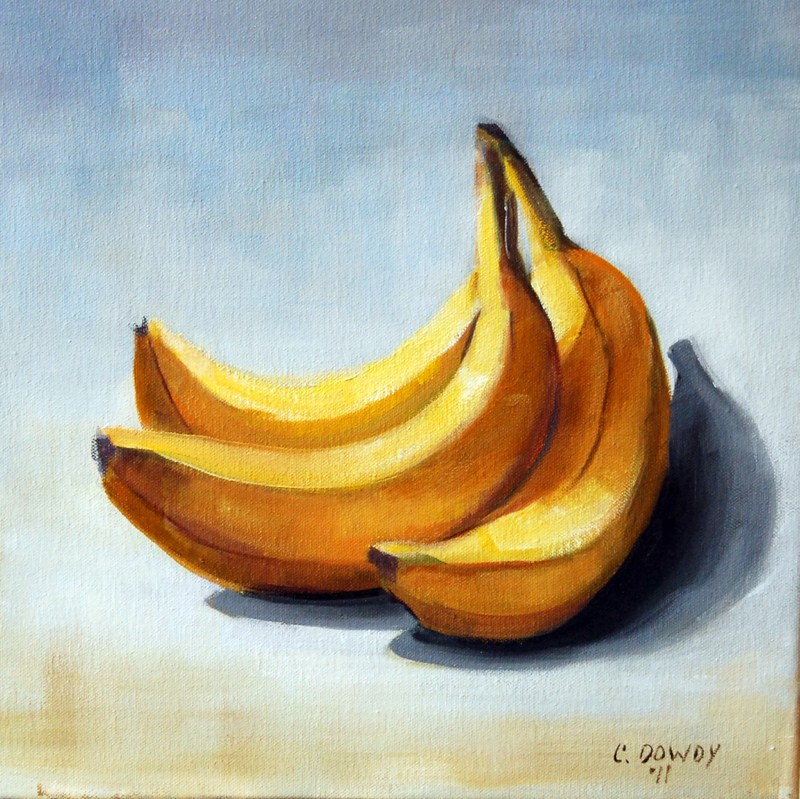 """Bananas"" original fine art by Christina Dowdy"