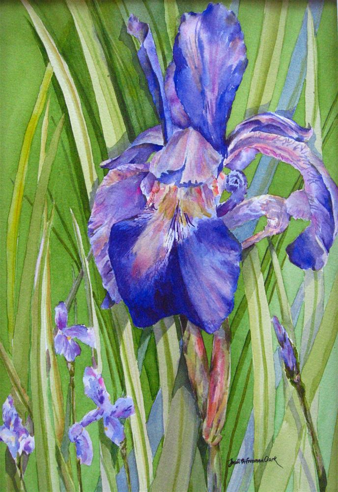 """Royal Purple I"" original fine art by Judith Freeman Clark"