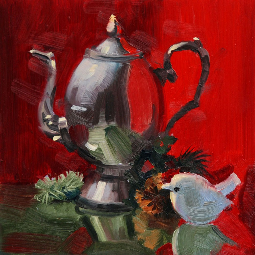 """Red and Green # 3"" original fine art by Susan McManamen"