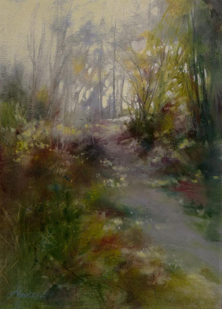 """""""Forgotten Path"""" original fine art by Barbara Benedetti Newton"""