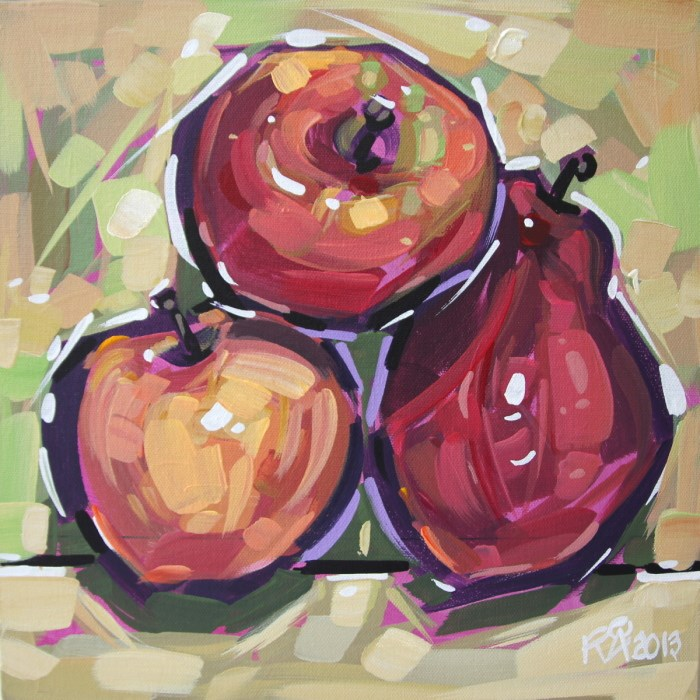 """""""Apples and Pears 9"""" original fine art by Roger Akesson"""