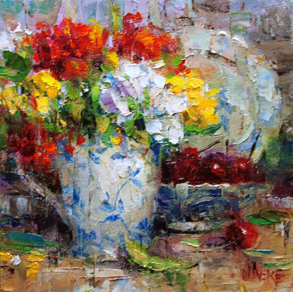 """""""Red, Yellow and Blue"""" original fine art by Julie Ford Oliver"""