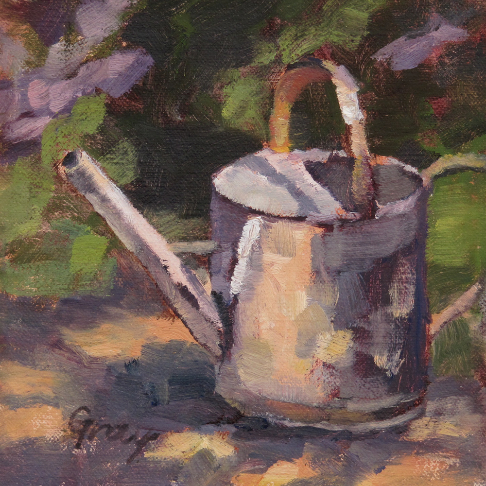"""""""Watering Can"""" original fine art by Naomi Gray"""