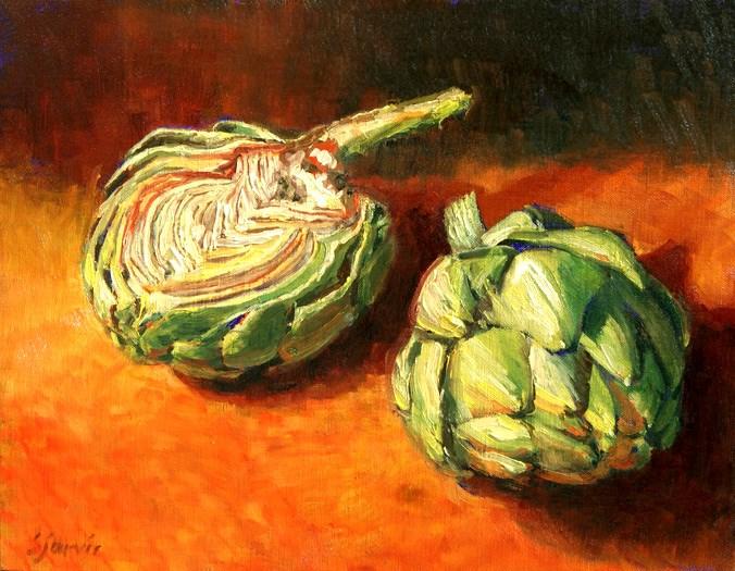 """Artichoke Fiesta"" original fine art by Susan N Jarvis"