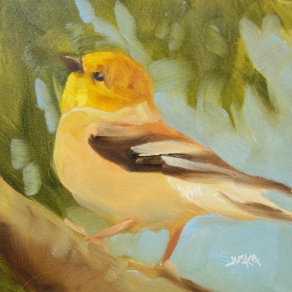 """""""Gold Finch"""" original fine art by Elaine Juska Joseph"""