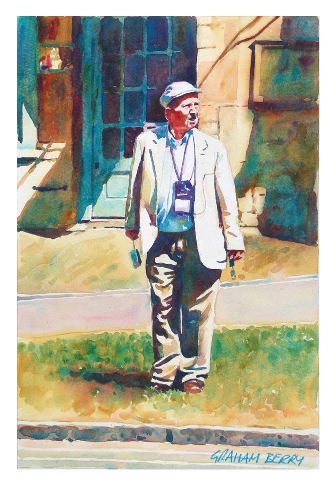 """Waiting to cross."" original fine art by Graham Berry"
