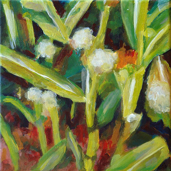 """0365 Corn Time - Maiszeit"" original fine art by Dietmar Stiller"