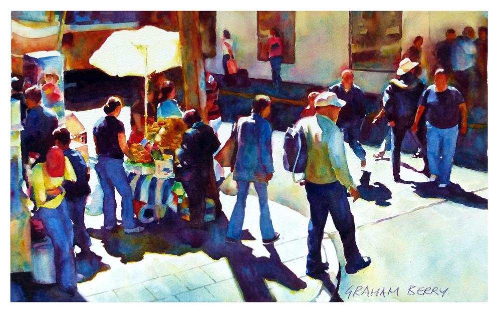 """Busy afternoon."" original fine art by Graham Berry"
