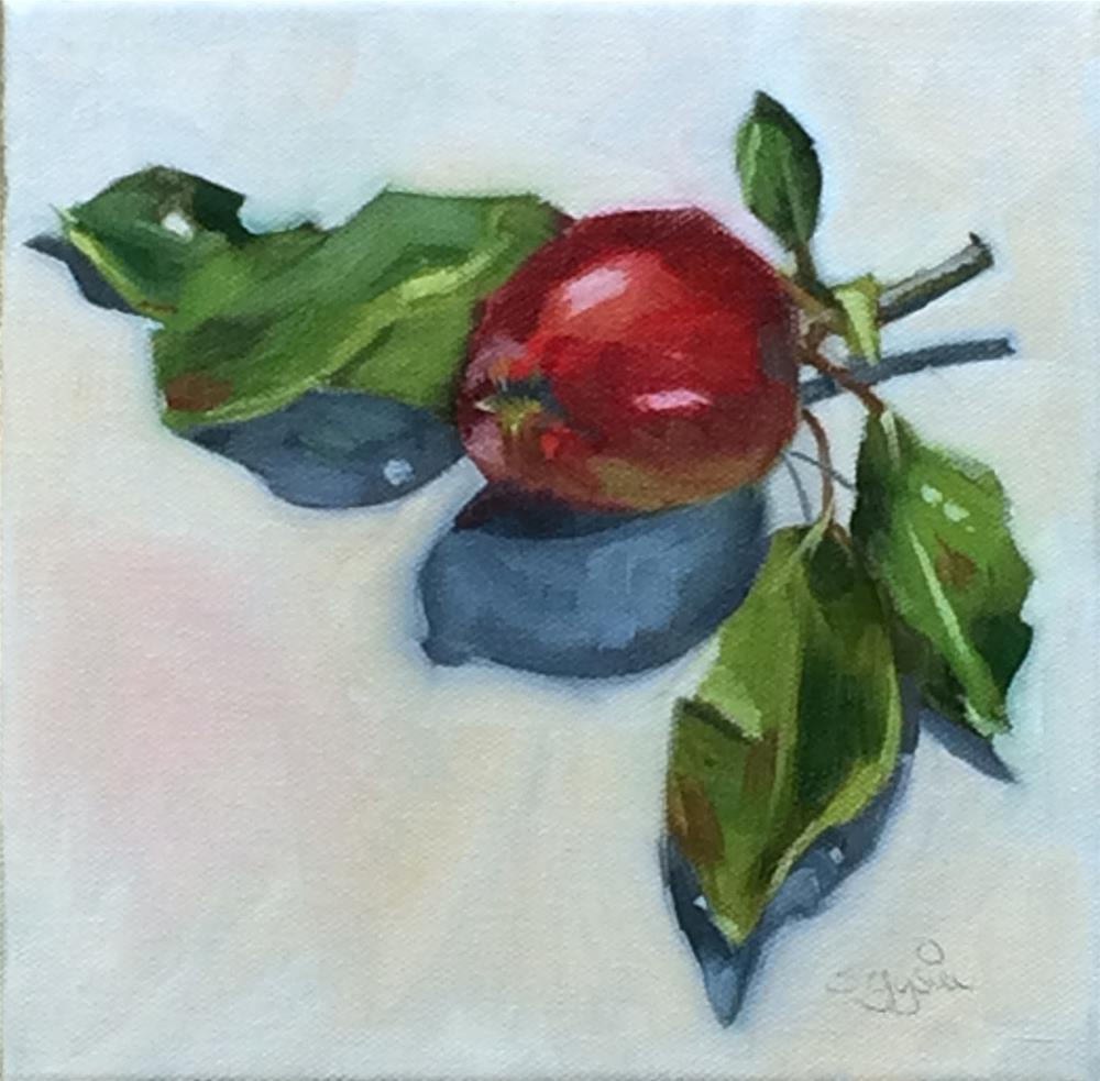 """A - is for Apple"" original fine art by Suzanne Gysin"