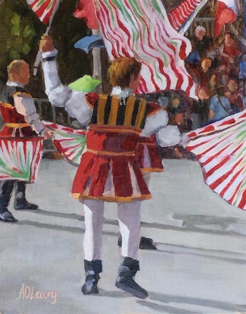 """Italian Festival"" original fine art by Alice O'Leary"