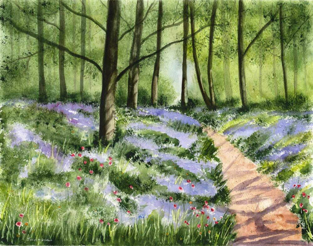 """Bluebell Woods"" original fine art by Janet Graham"