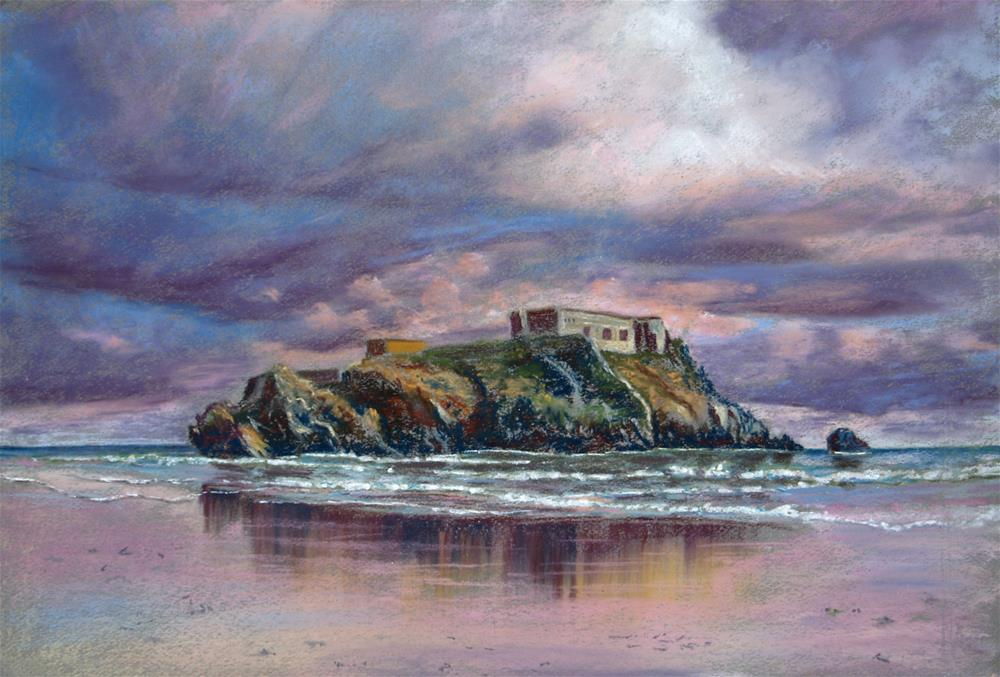 """St. Catherine's Island, Tenby"" original fine art by James Humphreys"