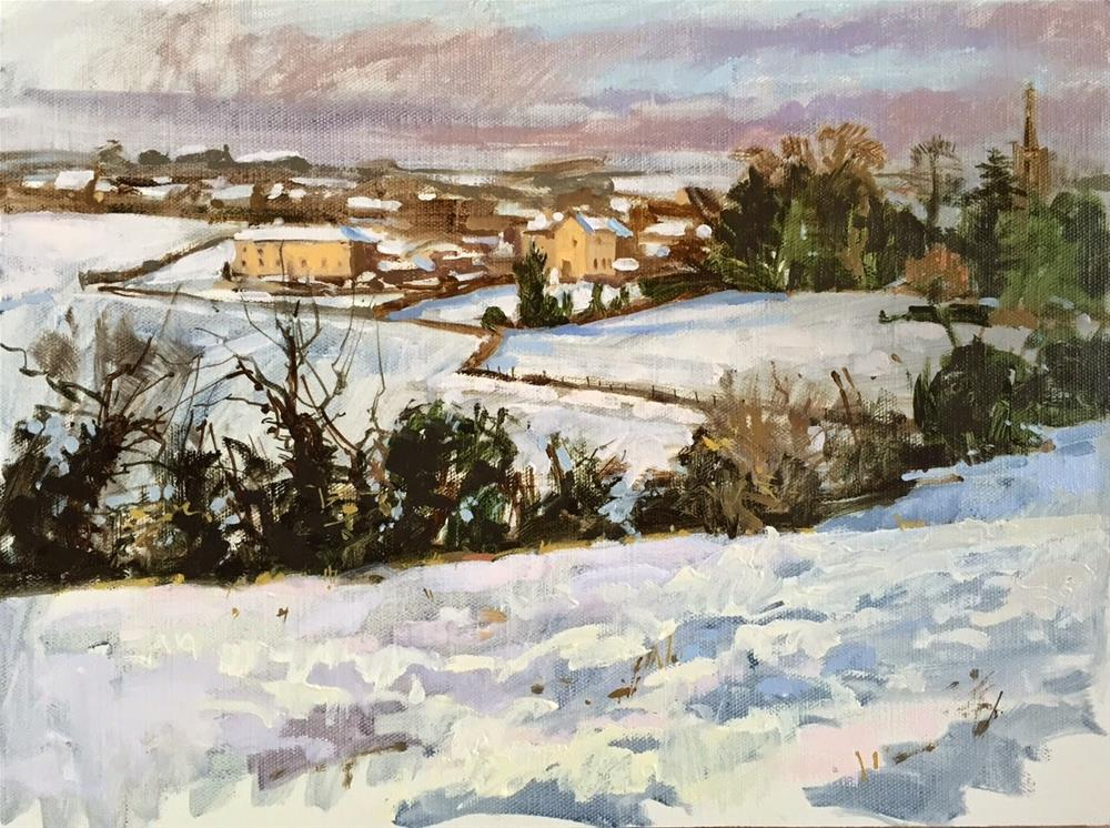 """""""A holiday snow day!"""" original fine art by Haidee-Jo Summers ROI"""