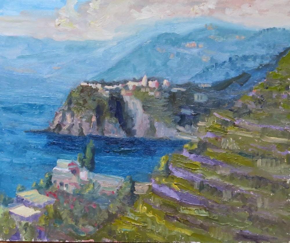 """Corniglia"" original fine art by Richard Kiehn"