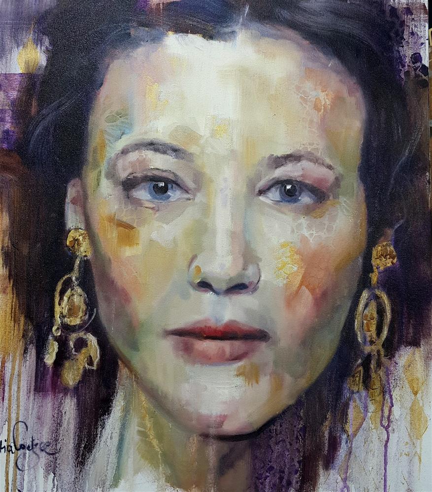 """Going for gold"" original fine art by Rentia Coetzee"